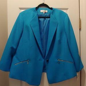 Never Worn Turquoise jones studio blazer